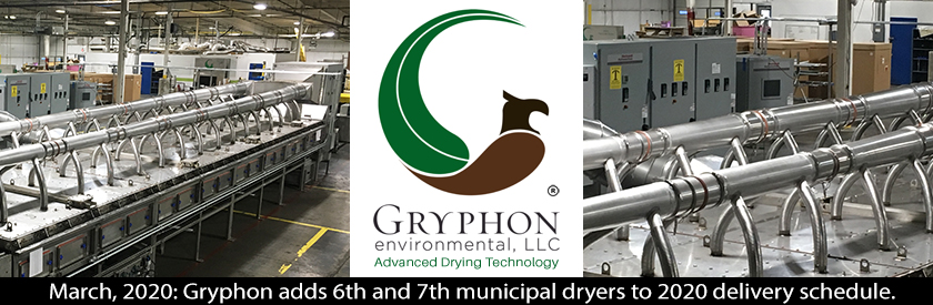 Gryphon adds 6th and 7th municipal dryers to 2020 delivery schedule